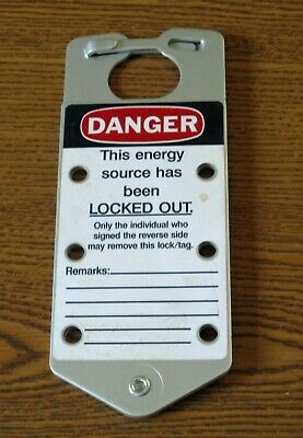 Brady 65961 silver Danger Do Not Operate aluminum hasp style lockout tag