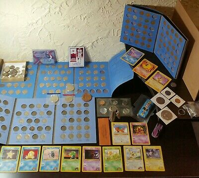 Old Us Mixed Coins Lot Silver Vintage Estate Collection Junk Drawer Pokemon+More