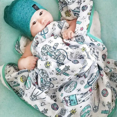 Blanket Newborn Baby Swaddling Super Comfy Bedding Blankets Swaddle 100% Cotton