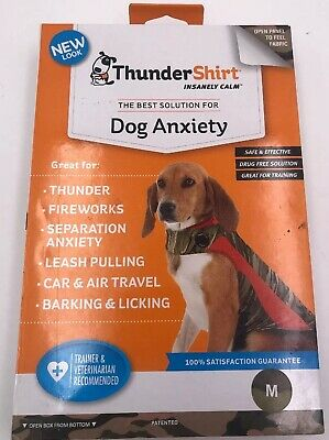 ThunderShirt CAMM-T01 Classic Dog Anxiety Jacket Size Medium - Camo