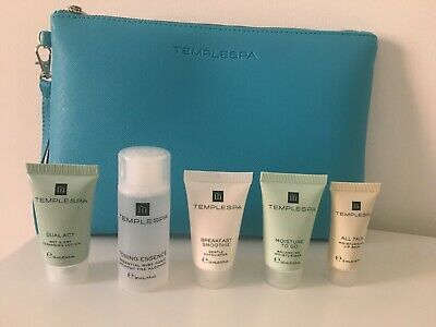TEMPLE SPA Complete Skincare Regime in Travel Sizes with Beauty Bag, BRAND NEW