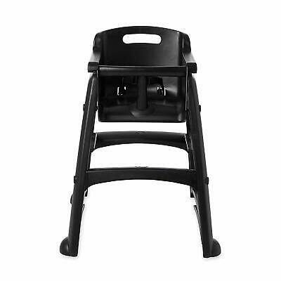 RUBBERMAID FG780508BLA Child, Baby, Youth High Chair,Black, with Wheels