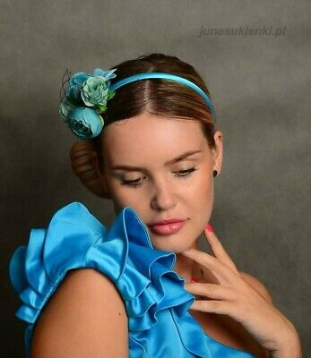 Flower Feather Fascinator Headband Hair Accessories Ladies Race Royal Ascot UK A