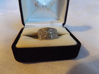 10k White Gold Ring With Diamonds Size 4.5