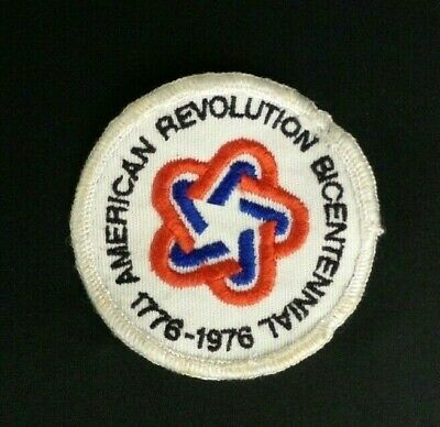 Vintage 1776-1976 American Revolution Bicentennial Cloth Back Sew On Patch