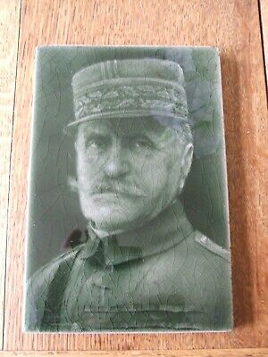 George Cartlidge Portrait Picture Tile by J.H. Barratt - GENERAL FOCH