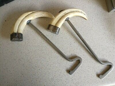 Superb Rare Antique 1901 Hallmarked Silver Hunting Riding Boot Pulls Equestrian