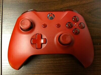 Xbox One Microsoft Controller (Red, Ghosting)