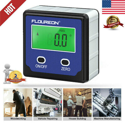 Digital Protractor Angle Finder Bevel Level Box Inclinometer Meter Magnetic Tool
