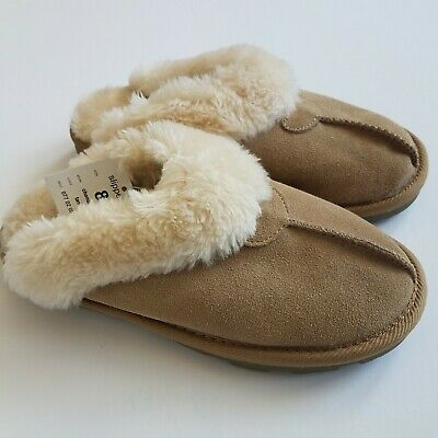 2a1d5f1666bf7 NEW Suede Slipper Faux Fur Lined Target Chandra Tan Women's Size 8 NEW