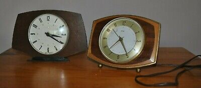 Two Retro Metamec Mantle Clocks - 1950s - Electric is Working + 8 Day a/f