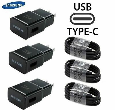 Lot ORIGINAL SAMSUNG GALAXY S9 S8PLUS NOTE 8 FAST OEM WALL CHARGER TYPE -C CABLE