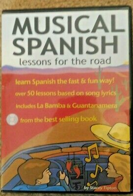 MUSICAL SPANISH LESSONS FOR THE ROAD, LEARN SPANISH AUDIO 2 CDs