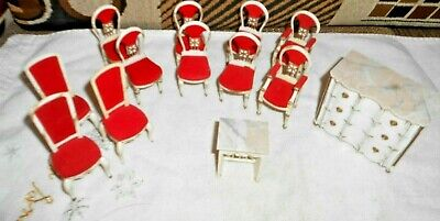 Vintage Dollhouse Ideal Petite Princess Chairs Ect See Pics Nice