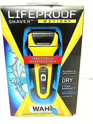 Wahl LifeProof Foil Shaver for Men Rechargeable Waterproof Wet Dry NEW 7061-100