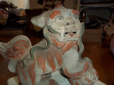 Vintage Ceramic Asian Chinese Foo Dog Interesting and Unique Hong Kong Lion