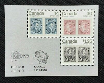 Canada #756a Souvenir Sheet of 3 MNH Stamps 1978 - CAPEX '78