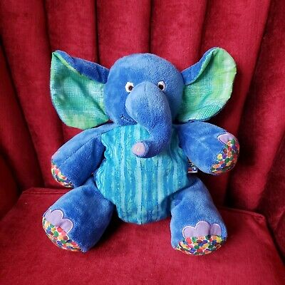 """The World of Eric Carle 2 in 1 Blue Elephant Plush Backpack & Harness 12"""""""