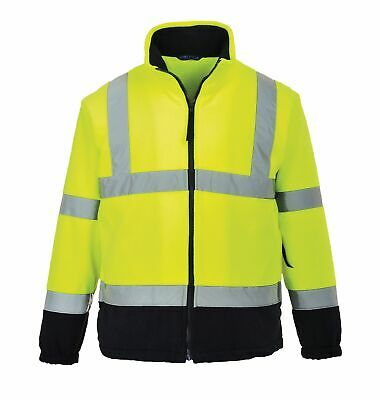 Portwest UF301 Silver Reflective Tape Elasticated Hi-Visibility 2-Tone Fleece