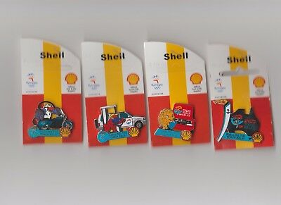 Sydney 2000 Olympics Shell Fuelling The Torch Relay Set of Pins [4]