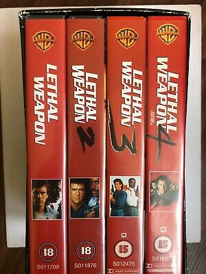 Lethal Weapon Box Set VHS Video Retro, Supplied by Gaming Squad