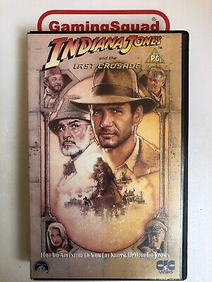 Indiana Jones and the Last Crusade BIG BOX VHS Video, Supplied by Gaming Squad