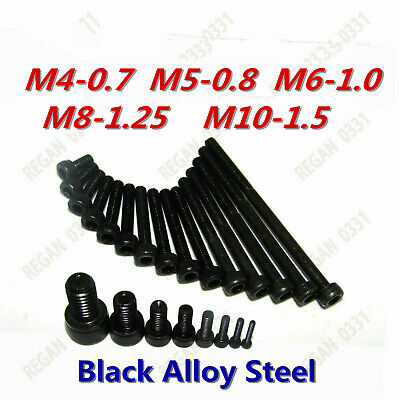 US Stock M3 M4 M5 Black Alloy Steel Allen Hex Socket Cap Head Screw Bolt GR 12.9