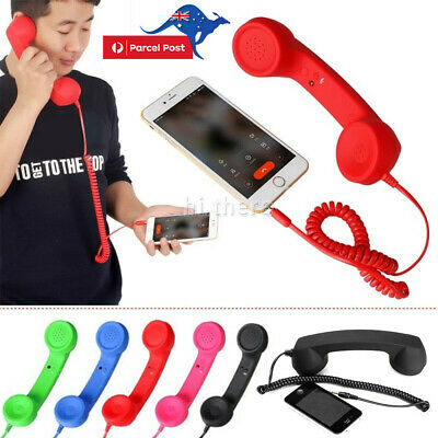 3.5mm Mic Retro Telephone Cell Phone Handset Receiver Radiation Proof For Mobile