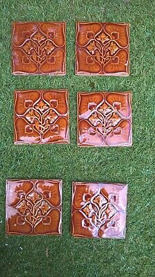 6 x  Original  Fireplace Tiles.   .stock item tile Q001