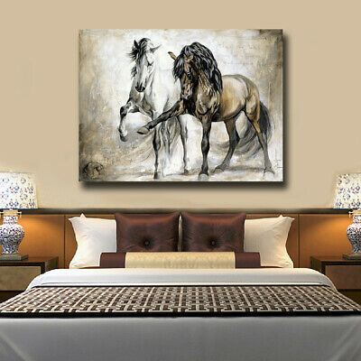 Canvas Painting Decor Wall Art Poster Oil Painting Retro Horse Canvas Prints