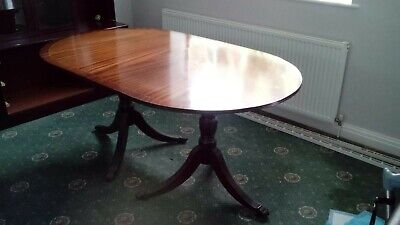 Antique Victorian Mahogany Extending Dining Table And Four Chairs