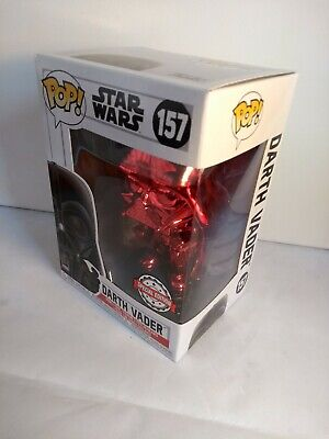 Funko POP! Star Wars #157 - Darth Vader Red Chrome - Special Edition (NEW)