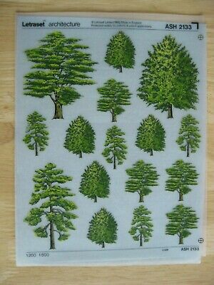 """1 x Architecture Trees 1:200  1:500 Very Rare  Sheet ASH 2133 """""""