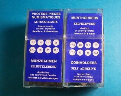 Lighthouse Self Adhesive Coin Holders Quantity 100 Sizes 30 mm 25 mm