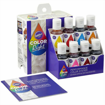 Wilton Colour Right Performance Colour System Icing Fondant Batter Food Colour