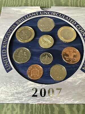 2007 United Kingdom UK Uncirculated Coin Set Collection