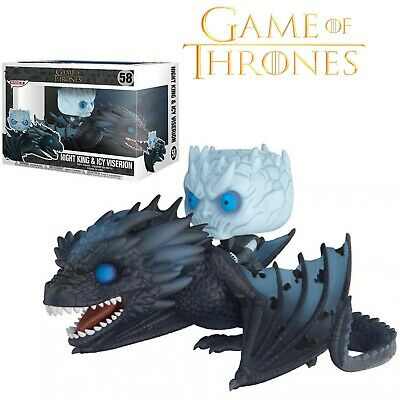 Figura Knight King & Icy Viserion Game Of Thrones / Juego De Tronos Funko Pop.