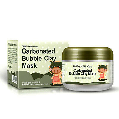 100g Skin Care Oxygen Bubbles Carbonate Mud Mask Acne Blackhead Facial Masks ^S