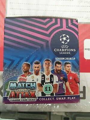 UEFA Topps 2018-19 Match Attax Champions League Cards 30 pack full box 2x BOX