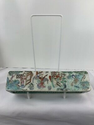 Vintage Chinese Famille Rose Box Square Handpainted/