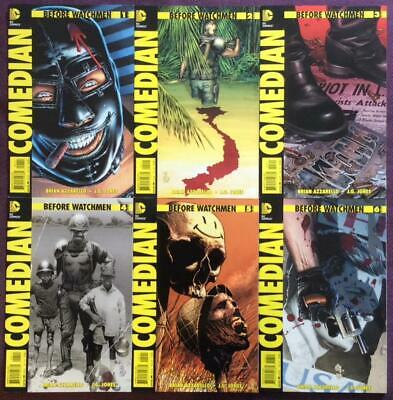 Before Watchmen Comedian #1 to #6 complete series A covers (DC 2012) Hi grade.