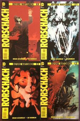 Before Watchmen Rorschach #1 to #4 complete series RARE B covers (DC 2012)
