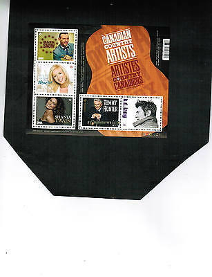 CANADA 2014  **COUNTRY ARTISTS** souvenir sheet  MNH  cat $8.50+ #2765  SS 2014