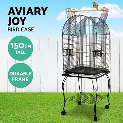 iPet Large Bird Cage Pet Aviary Birds Stand Budgie Parrot Feeder Stand on Wheel