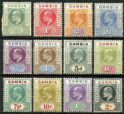 Gambia 1904 issue SG 57 - 68, Mint Hinged, CV £275