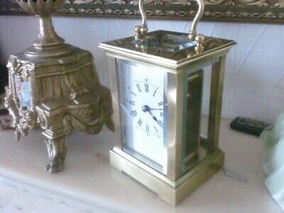 French Clock By Aiguilles  1900S With. Swiss 11 Jewel Platform/ Key V.g.c