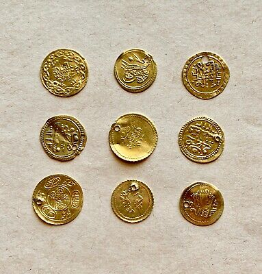 Lot Of 9 Ottoman Gold Coins To Catalogue. Very Nice Items!