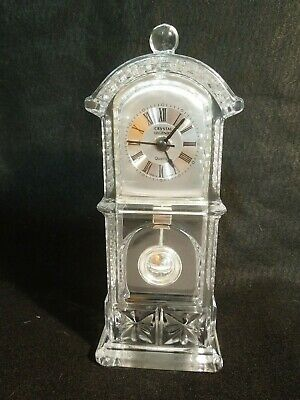 Crystal Legends Godinger Mini Pendulum Grandfather Clock w/ New Quartz Movement