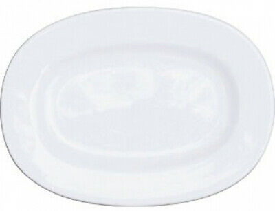 Churchill Alchemy C718 Rimmed Oval Dishes, 280 mm, White (Pack of 6)