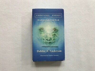 Vibrational Energy Oracle Cards Tarot Deck With Autographed Card Debbie Anderson